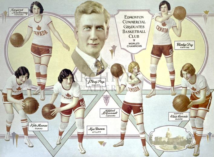 edmonton grads basketball team notes -the grads national basketball championship in 1932 was essential to the edmonton rustlers women's hockey team to gain support to travel east and play the preston rivulettes for the national hockey title.